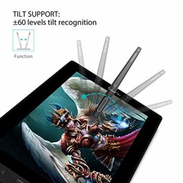 HUION KAMVAS PRO 13 13,3-Zoll BATTERIELOSES Grafiktablett mit Display 8192 Stift-Druckstufen mit TILT-Funktion und 4 Schnelltasten und Touch Bar - 2