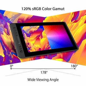 HUION KAMVAS PRO 13 13,3-Zoll BATTERIELOSES Grafiktablett mit Display 8192 Stift-Druckstufen mit TILT-Funktion und 4 Schnelltasten und Touch Bar - 7