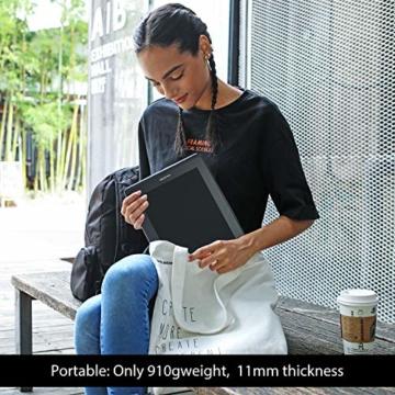 HUION KAMVAS PRO 13 13,3-Zoll BATTERIELOSES Grafiktablett mit Display 8192 Stift-Druckstufen mit TILT-Funktion und 4 Schnelltasten und Touch Bar - 8
