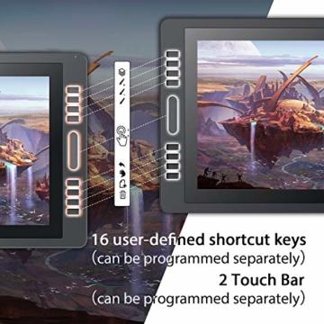 Huion KAMVAS Pro 20 (2019) 19,5-Zoll-Grafikzeichnungsmonitor mit batterielosem Tilt 8192-Stiftdrucktablett mit 16 Drucktasten HD-Stift-Display (1920 x 1080) für Windows und Mac. - 5