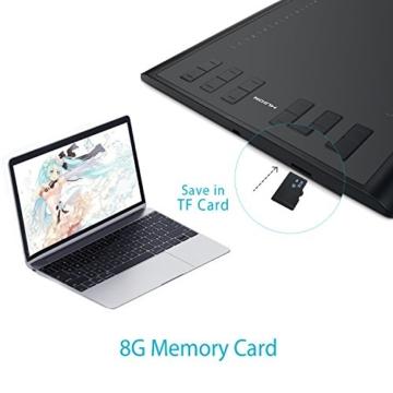 Huion Neu 1060PLUS Grafiktablett Micro USB Zeichen Großformatige mit 8G SD Karte und Wiederaufladbarer Stift - 2