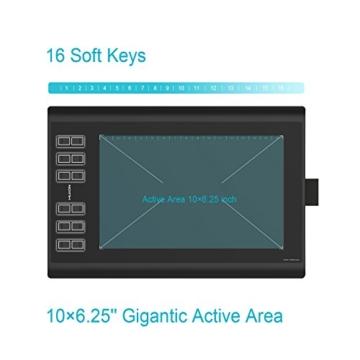 Huion Neu 1060PLUS Grafiktablett Micro USB Zeichen Großformatige mit 8G SD Karte und Wiederaufladbarer Stift - 3
