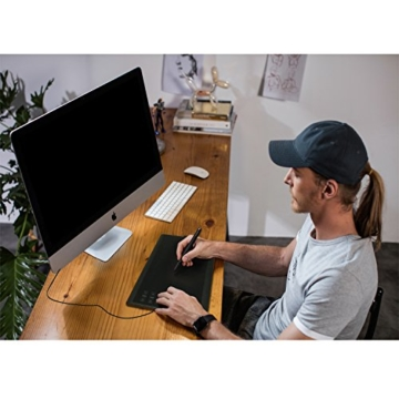 Huion Neu 1060PLUS Grafiktablett Micro USB Zeichen Großformatige mit 8G SD Karte und Wiederaufladbarer Stift - 5
