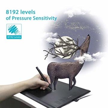 HUION New 1060 Plus Grafiktablett mit 8192 Stiftdruckempfindlichkeit 12 + 16 HotKeys Zeichentabletts für digitales Zeichnungsdesign Bildbearbeitung mit 1 Tragetasche und 1 Tabletthandschuh geliefert - 4