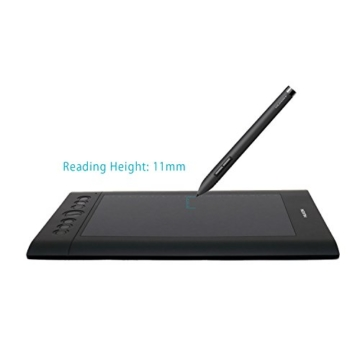 Huion Profi Grafiktablett - H610Pro mit Digitalen Stift 8 Express Keys und16 Funktion Keys - 4