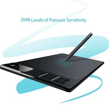 Huion Profi Grafiktablett mit Digitalen Stift Express Keys (WH1409) - 9