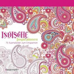 Indische Inspirationen: 70 Ausmalbilder zum Entspannen. Ausmalbuch für Erwachsene. -