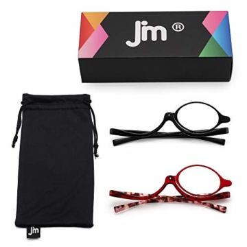 JM 2 Paar Makeup Lesebrille Vergrößern Flip nach unten Kosmetik Leser Für Damen +3.0 - 8