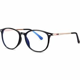 Joopin Blaulichtfilter Brille Damen und Blaufilter Brille Herren Computerbrille Gaming Brille Bluelight Filter PC Brille Schwarz - 1