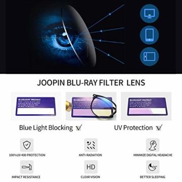 Joopin Blaulichtfilter Brille Damen und Blaufilter Brille Herren Computerbrille Gaming Brille Bluelight Filter PC Brille Schwarz - 4