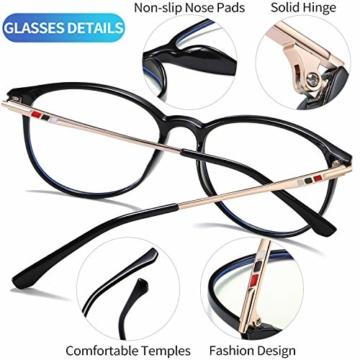 Joopin Blaulichtfilter Brille Damen und Blaufilter Brille Herren Computerbrille Gaming Brille Bluelight Filter PC Brille Schwarz - 5