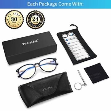 Joopin Blaulichtfilter Brille Damen und Blaufilter Brille Herren Computerbrille Gaming Brille Bluelight Filter PC Brille Schwarz - 6