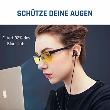 KLIM Optics - Blaulichtfilter Brille + Hoher Schutz + Gaming Brille für PC, Handy und Fernseher + Anti-Müdigkeit, Anti-Blaulicht, UV-Schutz [ Neue 2021 Version ] - 2