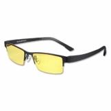 KLIM Optics - Blaulichtfilter Brille + Hoher Schutz + Gaming Brille für PC, Handy und Fernseher + Anti-Müdigkeit, Anti-Blaulicht, UV-Schutz [ Neue 2021 Version ] - 1