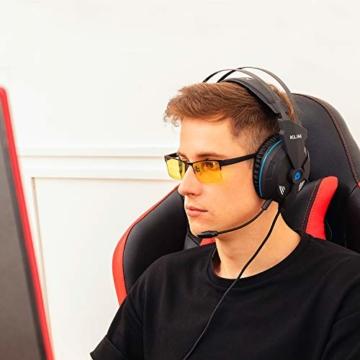 KLIM Optics - Blaulichtfilter Brille + Hoher Schutz + Gaming Brille für PC, Handy und Fernseher + Anti-Müdigkeit, Anti-Blaulicht, UV-Schutz [ Neue 2021 Version ] - 7
