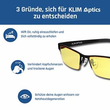 KLIM Optics - Blaulichtfilter Brille + Hoher Schutz + Gaming Brille für PC, Handy und Fernseher + Anti-Müdigkeit, Anti-Blaulicht, UV-Schutz [ Neue 2021 Version ] - 8