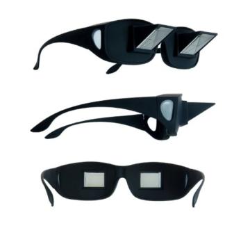 KOBERT GOODS Prisma-Brille 90 Grad Blickwinkel-Funktion ermöglicht das Bequeme Lesen und Fernsehen im liegen Horizontale Sicht ohne Stärke für Entspannte Positionen im Bett und Sofa Lazy Readers - 2