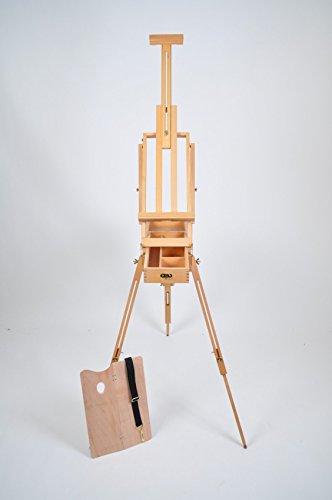 Kofferstaffelei aus Ulmenholz zum Kunstmalen