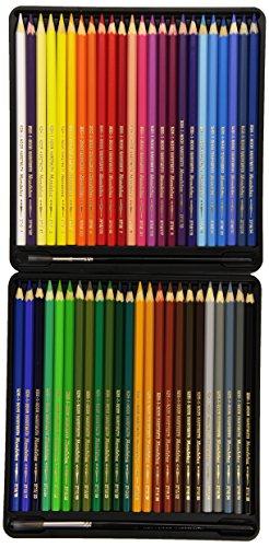 KOH-I-NOOR 3713 Mondeluz Aquarellstifte Set, farblich sortiert (48 Stück) -