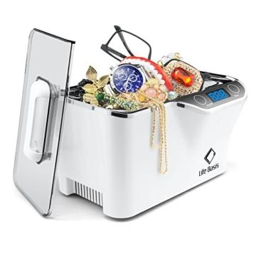 LifeBasis Ultraschallreiniger - Ultraschallreinigungsgerät 600ml Digitaler Ultraschallreiniger Ultraschallgerät 42KHz Ultraschall Gerät für Reinigung von Brille Schmuck Uhren - 2