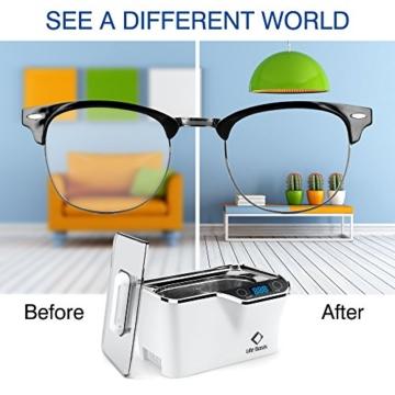 LifeBasis Ultraschallreiniger - Ultraschallreinigungsgerät 600ml Digitaler Ultraschallreiniger Ultraschallgerät 42KHz Ultraschall Gerät für Reinigung von Brille Schmuck Uhren - 5