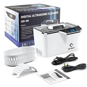 LifeBasis Ultraschallreiniger - Ultraschallreinigungsgerät 600ml Digitaler Ultraschallreiniger Ultraschallgerät 42KHz Ultraschall Gerät für Reinigung von Brille Schmuck Uhren - 9