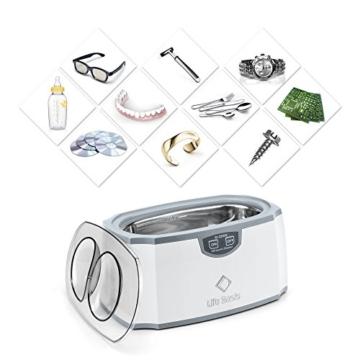 LifeBasis Ultraschallreinigungsgerät Ultraschallreiniger Ultraschallgerät für Reinigung von Brillen Schmuck Uhren Zahnersatz 420ml 45000Hz MEHRWEG - 5