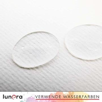 lunera premium Aquarellpapier 300g DIN A4 mit 45 Blatt naturweiß kaltgepresst I Aquarellblock perfekt für Aquarell, Zeichnen, Malen, Mischtechniken und Brush Lettering - 4