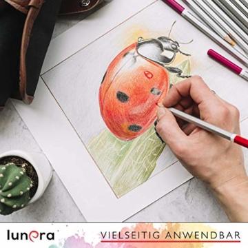 lunera premium Aquarellpapier 300g DIN A4 mit 45 Blatt naturweiß kaltgepresst I Aquarellblock perfekt für Aquarell, Zeichnen, Malen, Mischtechniken und Brush Lettering - 6