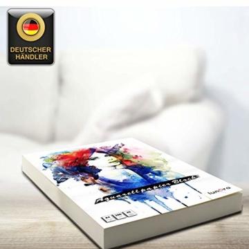 lunera premium Aquarellpapier 300g DIN A4 mit 45 Blatt naturweiß kaltgepresst I Aquarellblock perfekt für Aquarell, Zeichnen, Malen, Mischtechniken und Brush Lettering - 7