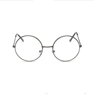 LUOEM Unisex Retro Runde Brillen Klare Linse Gläser Ultra Light für Santa Claus und Harry Potter Cosplay (Gun-Farbe) - 2