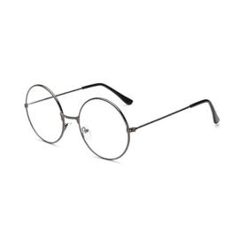 LUOEM Unisex Retro Runde Brillen Klare Linse Gläser Ultra Light für Santa Claus und Harry Potter Cosplay (Gun-Farbe) - 1