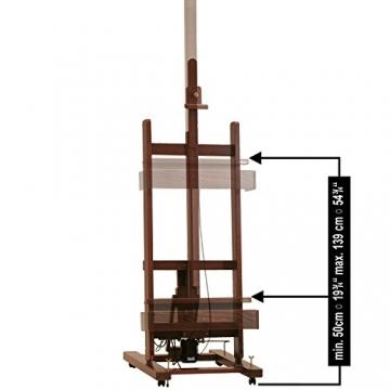 Mabef Staffelei Studiostaffelei elektrisch - mit Schalter und Fußpedal und Fernbedienung - M/01-220V-PRC - 4
