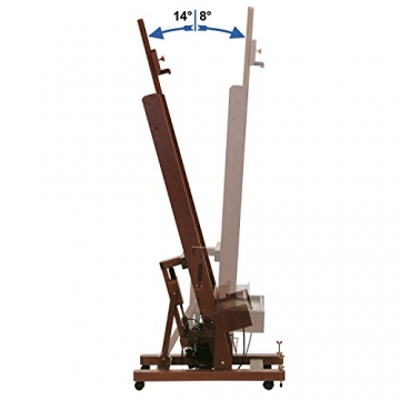 Mabef Staffelei Studiostaffelei elektrisch - mit Schalter und Fußpedal und Fernbedienung - M/01-220V-PRC - 5