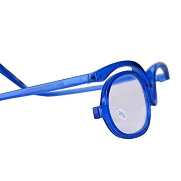 Make-Up Schminkbrille mit klappbaren Brillenglas, Make-Up Schminkbrille mit klappbaren Brillenglas Modische Schminkhilfe (Blau 300) - 4