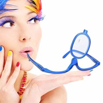 Make-Up Schminkbrille mit klappbaren Brillenglas, Make-Up Schminkbrille mit klappbaren Brillenglas Modische Schminkhilfe (Blau 300) - 1