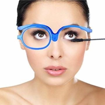 Make-Up Schminkbrille mit klappbaren Brillenglas, Make-Up Schminkbrille mit klappbaren Brillenglas Modische Schminkhilfe (Blau 300) - 6