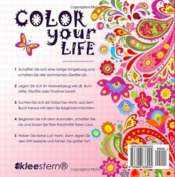 Malbuch für Erwachsene: Idyllische Blumenmuster zum Ausmalen & Entspannen -
