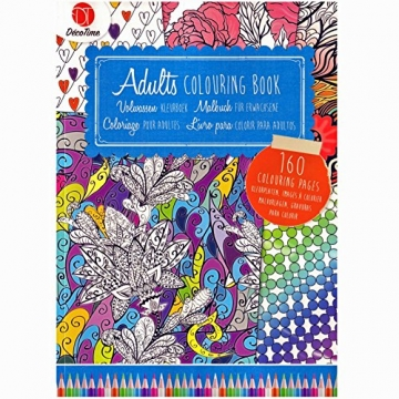Malbuch für Erwachsene zum ausmalen DIN A4 160 Seiten -