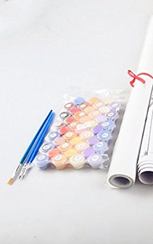 Malen nach Zahlen Kits DIY gemaelde von zahlen digital gemaelde Retro Klavier Muster rahmenlose leinwand wand dekor 40x50cm -