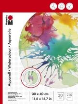 Marabu 161200023 - Malblock für Aquarellmalerei, 30 x 40 cm, 210 g -
