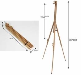 Meister SIENA Feldstaffelei XL aus Buche FSC, für Keilrahmen bis 120 cm hoch, Qualität vom KÜNSTLERPROFI - 1