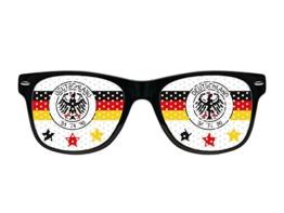Nerd Brille Deutschland Fanbrille Lochbrille EM WM Nerdbrille V-1159 - 1