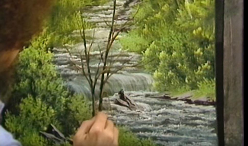 Ölbild Stiller Fluss von Bob Ross