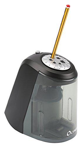 Olymp AS 607 Elektrischer Spitzer (Bleistifte, Buntstifte, Kohlestifte, Bleistift-Spitzer mit Dose/Behälter aus Kunststoff, Anspitzer von 6 bis 11 mm Durchmesser) - 3