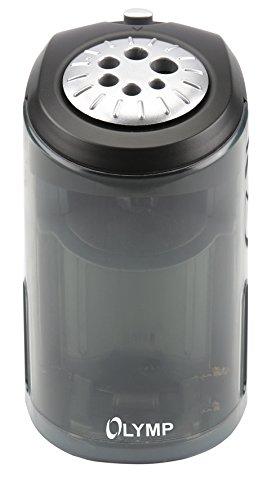 Olymp AS 607 Elektrischer Spitzer (Bleistifte, Buntstifte, Kohlestifte, Bleistift-Spitzer mit Dose/Behälter aus Kunststoff, Anspitzer von 6 bis 11 mm Durchmesser) - 4