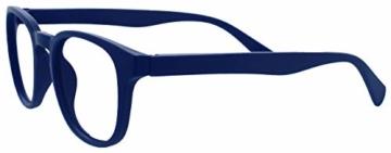 Opulize Pop 4er-Pack Retro Runden Schwarz Blau Grün Grau Herren Damen Lesebrille Federscharniere RRRR2-1367 +2,00 - 4