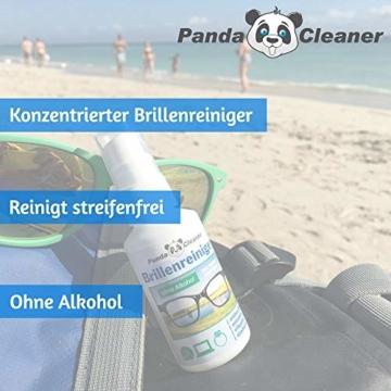 PANDACLEANER® Set 400ml Brillenreiniger 50ml Spray für unterwegs + 100ml für Zuhause + 250ml Nachfüllflasche | ohne Alkohol | antibeschlag | streifenfrei | Auch für Displays, Monitore, Visiere - 4