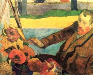 Paul Gauguin: Vincent van Gogh malt Sonnenblumen (1888)