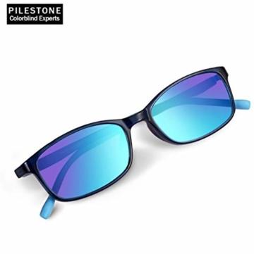 PILESTONE KINDER TP-030 (Typ B) farbenblinde Gläser für Kinder mit roter / grüner Farbenblindheit 6-10 Jahre - mäßiges, starkes und schweres Deutan und mäßiges, starkes Protan - 3